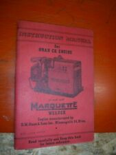 Instruction Manual For Onan Ck Engine As Used With Marquette Welder Vintage