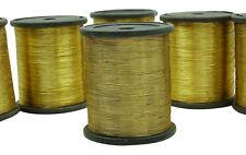 Goldenen Metallfäden Hand Stickmaschine Nähen Polyester Spool-Set von 6 Stück
