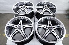 17x7.5 4x Black with Polish 5 Stars Big Lip Wheels Rims 5x120 Fit BMW 3 Series