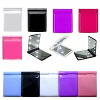 Portable Pocket Compact Folding Make Up Mirror Cosmetic with 8 LED Lights