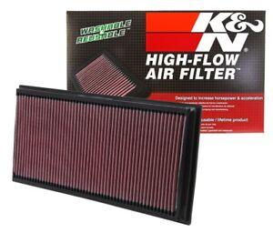 2 K&N Hi-Flow Air Intake Filters 33-2857 For Audi Porsche VW V8