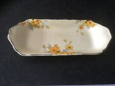 EXQUISITE CROWN DUCAL SUNBURST RECTANGUALAR SANDWICH DISH