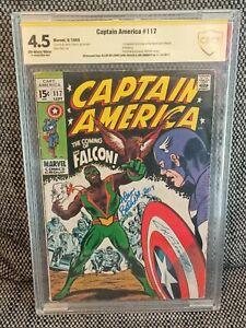 Captain America #117 - CBCS Double SS with Sketch,Joe Sinnott & Bellman like CGC