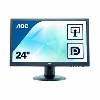 "AOC E2460PQ 61cm 24"" Widescreen LED Multimedia Monitor Display 240LM00010"