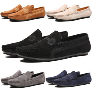 MENS LOAFERS SLIP ON SUEDE SLIPPERS CASUAL MOCCASINS DRIVING SHOES NEW [UK 13]