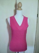 SALE inc hot pink stretch knit top NWT $49.95 L silk mix knit  *