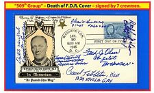 "509th Enola Gay Hiroshima & Bock's Car Nagasaki 1946 FDR""s DEATH by 7 CREWMEN 08"
