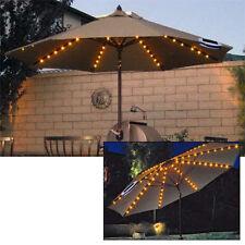 Umbrella String Chain Lights Garden Parasol 72 LED Solar 8 Strut Fairy Lights