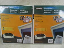 "Fellowes Thermal Binding Covers 1"" 25mm Oversized Pack of 10 CRC 52570 2 Packs"