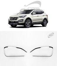 SAFE Chrome Fog Lamp Molding 2Pcs For Hyundai Santa Fe DM 2013 2016