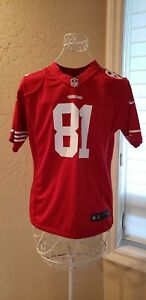 NWOT Anquan Boldin San Francisco 49ers Red Large Boys Nike Game Jersey On Field
