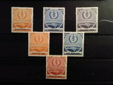 Cinderella Poster Stamp World Health Organization OMS 1954-1955 lot of 6