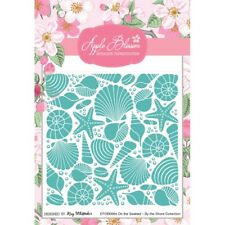 Apple Blossom by the Shore Collection-Sur les fonds marins 5x5 Embossing Folder