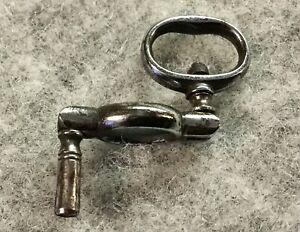 Antique Georgian Articulated Crank Watch Key Polished Steel Pocket Watch Winder