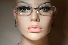 New Very Small Size PRADA VPR 05E Women's Seethru Clear Glasses Frames 48 18 130