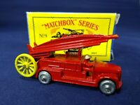 "1988  ""Matchbox""Series Moko Lesney #9 Red Fire Engine Boxed"
