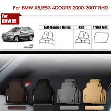 "Full Set 1/2""Thick Solid Nylon Interior Floor Carpet Mats For RHD BMW X5/E53"
