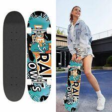 31 Zoll Skateboard Komplett Board Funboard  7-Lagiges Holzboard für Anfänger DEU