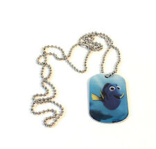 Disney Pixar Finding Dory Mystery Dog Tag Necklace Dory Swimming Happy #1 of 12