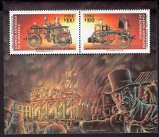 CHILE 1993 STAMP SS # 63 MNH OLD FIREMEN BOMBS