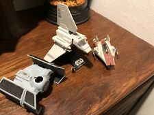 Star Wars Action Fleet Imperial Shuttle A Wing Tie Fighter. Incomplete