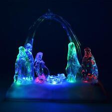 Christmas Novelty LED Light Up Musical Nativity Set Xmas Home Decor Decorations
