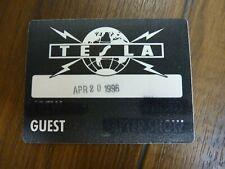 Tesla Guest 1996 Tour Backstage Concert Pass