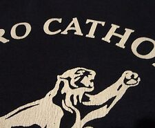 METRO CATHOLIC COUGARS School Distressed Blue T Shirt FREE Shipping size Small