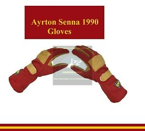 1990 Ayrton Senna Gloves F1 Racing Gloves Karting Gloves Go Kart Gloves F1 Glove
