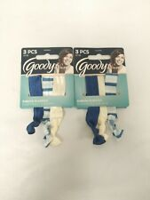 2 Goody Ouchless Hair Ribbon Elastics 3ct Each