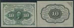 FR1243P 10c 1ST ISSUE FRACTIONAL CURRENCY PROOF (FRONT- CU BACK - AU) BV642