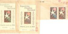 SPAIN 1958 Brussels Exhibition MNH Souvenir S/S Sheets Stamps #877-878a