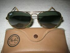 Vintage B&L Ray Ban Aviator Classic 58mm NEW w/o Tags Paddle Temples Full Mirror