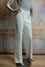 $750 New with tags OSCAR de la RENTA White Cotton Slacks Pants 4