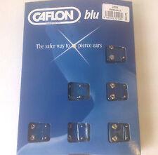 1 COPPIE dozz Caflon Mini Palla D'Argento Tono Orecchio Piercing Borchie Nuovo sistema di Blu 114517