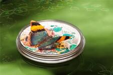 CAR 2014 1000Fr Papallones Exòtiques Butterfly Euphaedra Neophron 3D Silver Coin