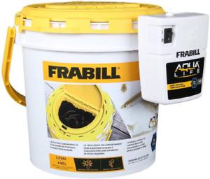 Frabill Aqua Life Dual Fish Bait Bucket With Clip On Aerator, 1.3 Gallons 4823