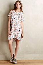 NWT SZ M ANTHROPOLOGIE FLUTTERED WATERCOLOR DRESS BY MAEVE SIZE MEDIUM ( 8 10 )