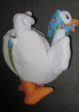 Peluche Doudou/Livre - La Mère L'Oie canard - blanc  (H: 23 cm)