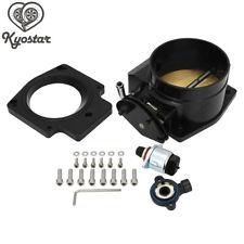 Black 102mm Throttle Body with TPS + Adapter for GM GEN LS LS1 LS2 LS6 LS7 LSX