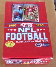 1990 Score Football Series 1 Trading Cards Wax Box