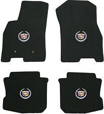 Lloyd Mats 4 Piece Floor Mat Set 2008 - 2011 Cadillac DTS Black silver crest