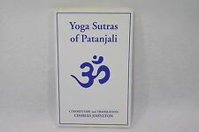 Yoga Sutras of Patanjali Charles Johnston 1993 Livre spirit en anglais