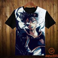 Anime Black Clover Otaku Casual Cool Short Sleeve Unisex T-shirt Tee Tops #G9