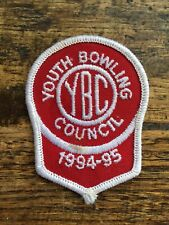 Vtg Sew On Embroidered 1994 1995 Youth Bowling Council Patch Badge League Bowler