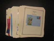 LARGE STACK OF UNUSED GREAT BRITAIN POSTAL STATIONARY ON PAGES-1970'S-1990'S!