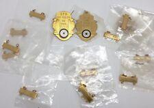 Archery Lot Gold-Tone Target Award Pendants Medals, Bars & Lapel Pin (Rf1010-1)