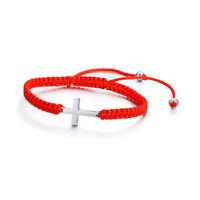 Braided Red String Kabbalah Lucky Rope Women Bracelet Jesus Cross Charm Jewelry