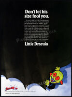 LITTLE DRACULA__Orig. 1991 Trade print AD_Toy action figure/TV promo__DREAMWORKS