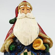 "Jim Shore 2002 Heartwood Creek 10"" Santa Claus Figure With Bell"